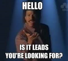 hello is it leads your looking for