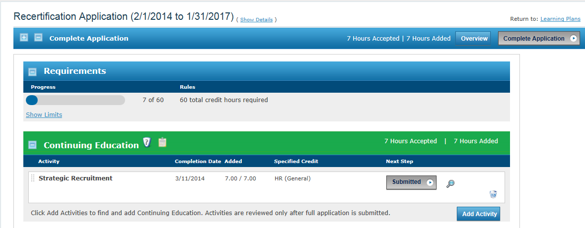 And then there is that small side bonus that it was 7 recert credits to start my next recert application!